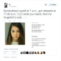"'Cute Mugshot Girl' wins the love of the Internet | abc7chicago.com | ""FaceBookingU"" Can't Believe Her 'Mugshot' Response"
