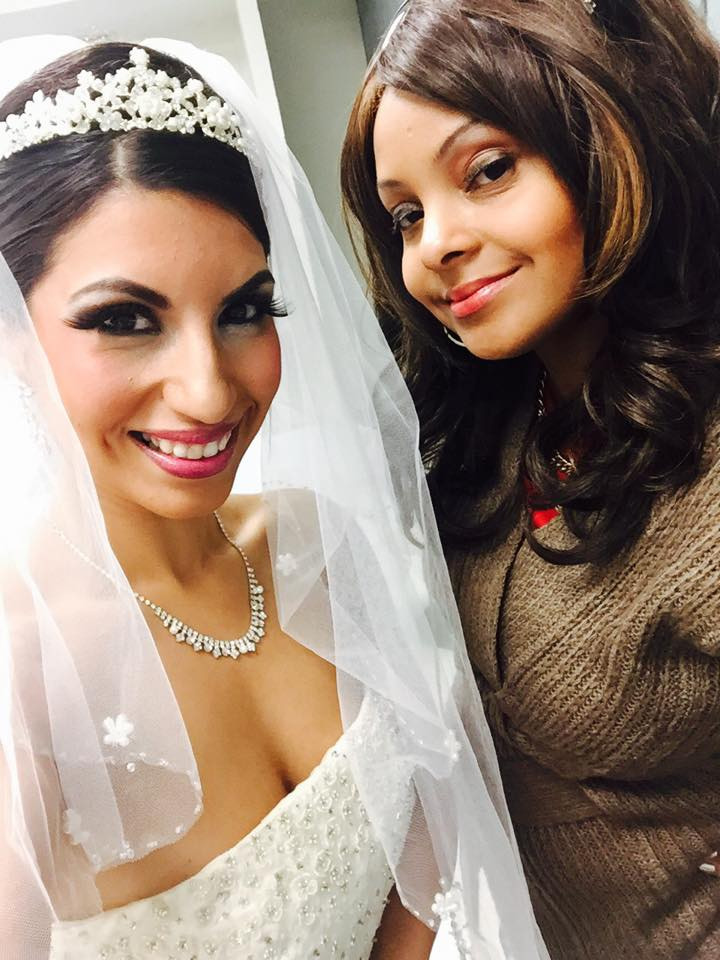 "A wedding face…makeup artistry by FacePR Industry Founder Tracey Bond #MUA with model Brenda Mendez at FaceBookingU – FacePR.org"""