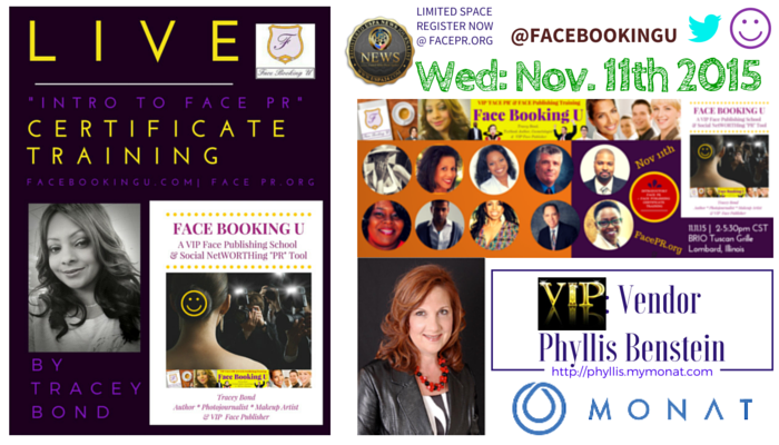 Announcing: #IntroToFacePR Event VIP Vendor PHYLLIS BENSTEIN | Monat.com
