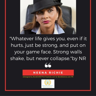 -Whatever life gives you, even if it hurts, just be strong, and put on your game face. Strong walls shake, but never collapse.-by NR